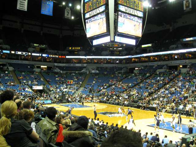 Minnesota Timberwolves Lower Seats